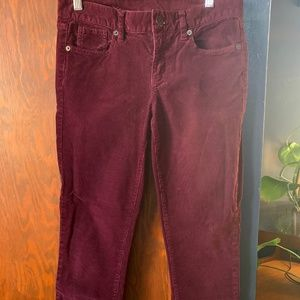 J. Crew Skinny Low-rise Corduroy Ankle Pants
